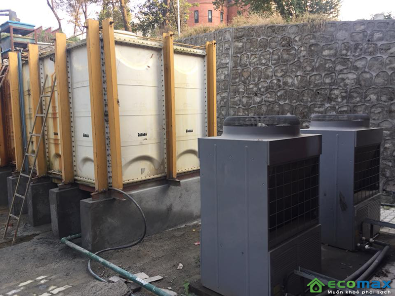 Hình ảnh công trình lắp đặt máy bơm nhiệt midea