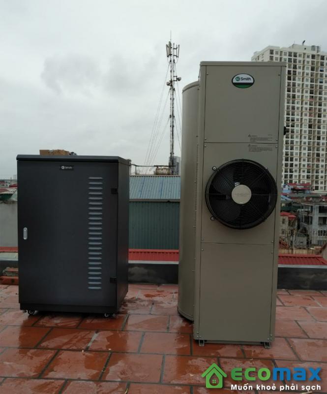 hình ảnh lắp đặt máy bơm nhiệt tích hợp
