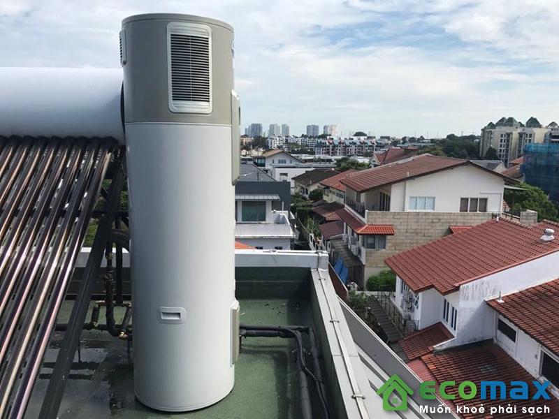 Công trình lắp đặt máy bơm nhiệt không khí tại biệt thự