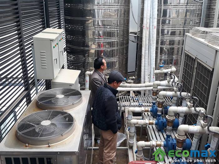 Hình ảnh lắp đặt máy bơm nhiệt heat pump