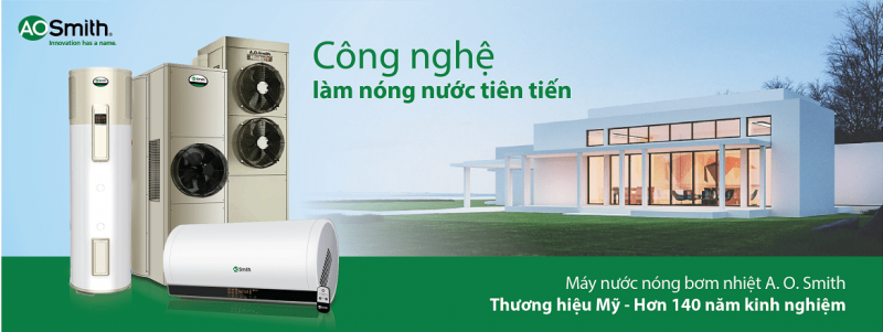 may nuoc nong bom nhiet ao smith