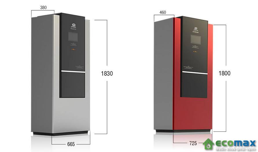 kích thước của máy nước nóng bơm nhiệt HeatPump