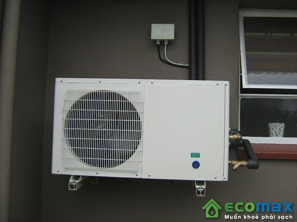 Lắp đặt máy bơm nhiệt nước nóng