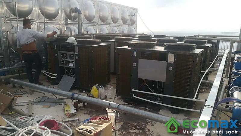 may bom nhiet nuoc nong trung tam audsun heat pump ARG 30H 2
