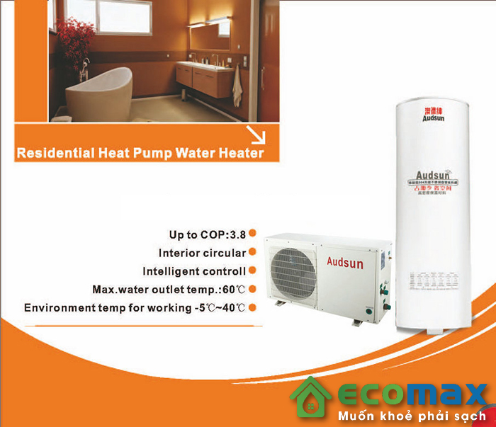 may nuoc nong bom nhiet KF100 X Heat pump audsun 4