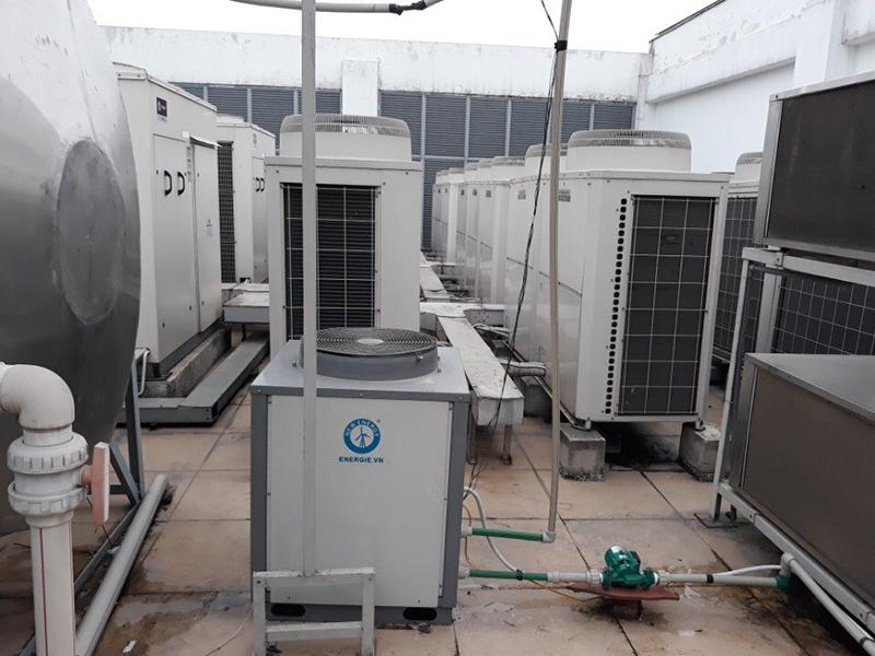 Hệ thống máy nước nóng trung tâm heat pump