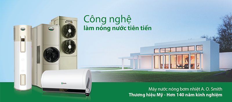 may nuoc nong bom nhiet heat pump ao smith